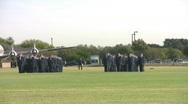 USAF Parade field closer pan RT HD Stock Footage