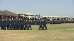 USAF flights Parade in Review turn HD - stock footage