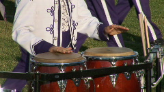 Percussionist of marching band Stock Footage