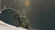 Sparkling snow- slow zoom HD Stock Footage