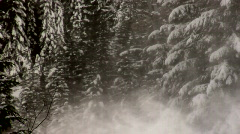 gondola moving thru blowing snow HD - stock footage