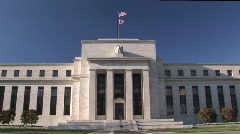 Federal Reserve Bank Building in Washington DC Stock Footage