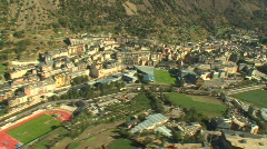 Helicopter shot Andorra - stock footage