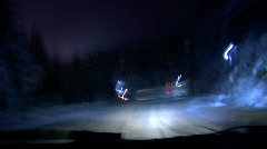 Night driving time lapse  HD - stock footage
