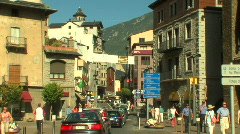 Andorra city center - stock footage