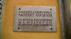 Mozart birthplace Stock Footage