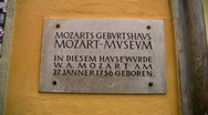 Stock Video Footage of Mozart birthplace