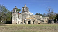 Mission Concepcion front HD Stock Footage