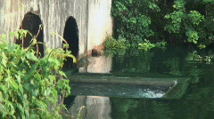 River drain Stock Footage