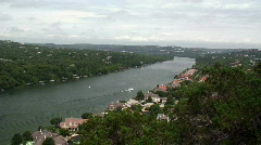 View from Mount Bonnell Austin TX  Stock Footage