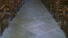 Mission Concepcion floor zoom in to Christ HD Stock Footage