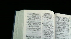 Bible zoom Stock Footage
