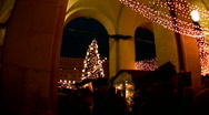 Stock Video Footage of Christmas fair in Salzburg