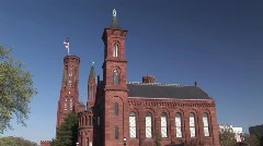 Smithsonian Institute Castle in Washington DC Stock Footage