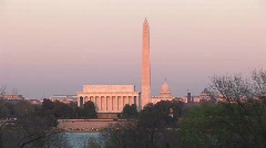 U.S. Capitol, Washington Monument, & Lincoln Memorial Stock Footage