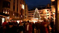 Christmas fair market in Innsbruck Austria Europe Stock Footage