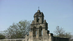 Mission San Juan capistrano bell tower HD Stock Footage