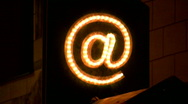 Stock Video Footage of email sign