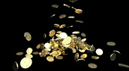 Coin Fall Stock Footage