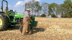 Farmer Starting Work Day Stock Footage