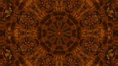 Red Kaleidoscope Stock Footage