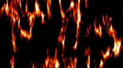 Flames animation - stock footage
