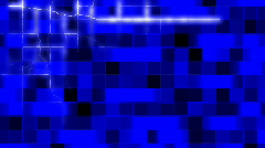 Flashing blue grid Stock Footage