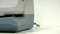 Franking machine Stock Footage