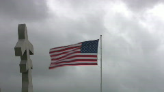 Flag USA aircraft memorial fast time lapse HD Stock Footage