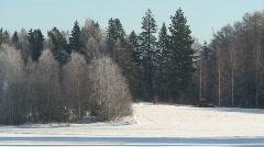 Beautiful winter landscape Stock Footage
