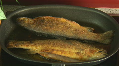 fried fish turned close - stock footage
