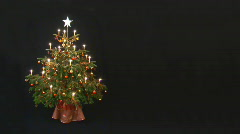 Christmastree loop place for text Stock Footage