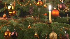 Christmastree closeup Stock Footage