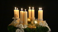Fourth advent part II Stock Footage