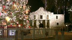 Alamo at Christmas San Antonio Texas - stock footage