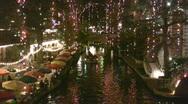 Night Christmas lights bridge HD Stock Footage