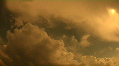 AMBER CLOUD TIMELAPSE 1080 30p Stock Footage