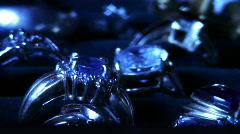 Blue diamonds Stock Footage