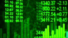 G stockmarket background Stock Footage