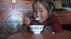 Mongolia: Eating - stock footage