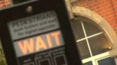 pedestrian crossing 03 london - stock footage
