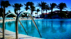 Pool in Paradise - stock footage
