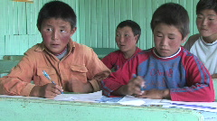 Mongolia: Education - stock footage