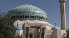 King Abdullah I Mosque  Stock Footage