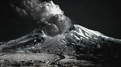 Volcano mount st helens (photorealistic) Stock Footage
