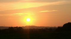 Firey sunset Stock Footage