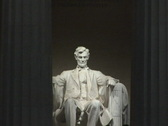 NTSC: Lincoln Memorial - statue close Stock Footage