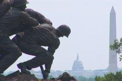 NTSC: Iwo Jima Memorial - close Stock Footage