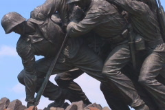 NTSC: Iwo Jima Memorial - tilt up to flag - stock footage