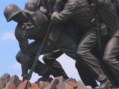 Stock Video Footage of NTSC: Iwo Jima Memorial - tilt up to flag